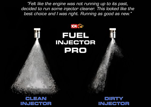 Fuel Injector Cleaner Complete System Cleaning Fluid Additive for Carburetor Engine Gas Line & More. Works With Car, Lawn Mower to Increase Power, Efficiency and Economy Boosting Stabilizer. 104+ by 104 + OCTANE BOOST (Image #1)