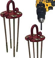 """Keyfit Tools GROUNDHAWG (4 pck) Hard Pan Spiral Screw In Tent & Canopy Stakes 4 Self Cutting 10"""" Scre"""