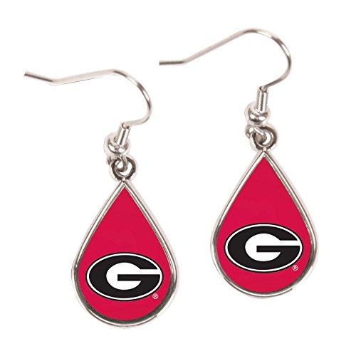 Wincraft NCAA Georgia Bulldogs Tear Drop Earrings, Large, Multi