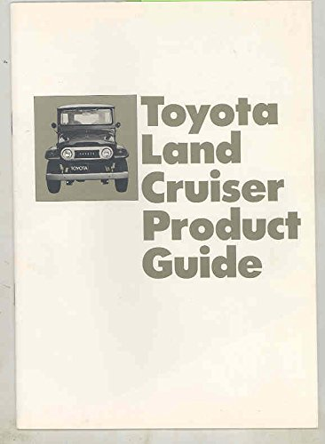 - 1973 Toyota Land Cruiser & Wagon Salesman's Product Guide Book Brochure