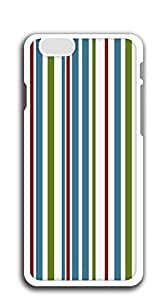 Hard Case Back Custom PC case for iphone 6plus 5.5screen - Red zigzag stripes