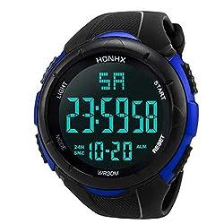 Pumsun Men Watch Analog Digital Military Army Sport LED Waterproof Wrist Watch (Blue)