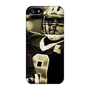 PhilHolmes Iphone 5/5s Shock-Absorbing Hard Phone Covers Unique Design Stylish New Orleans Saints Pictures [WZL13738snyb]