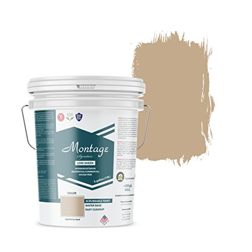 Montage Signature Interior/Exterior Eco-Friendly Paint, Suede - Low Sheen, 5 Gallon