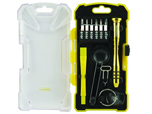 General Tools 660 iPhone Repair Kit for Smart Phones, Tablets & Other Electronic Devices, 17 piece set ()