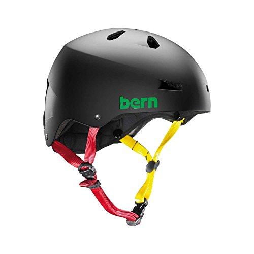 Bern Skate Helmet Macon EPS Summer Matte Black Rasta - (Macon Skate Helmet)