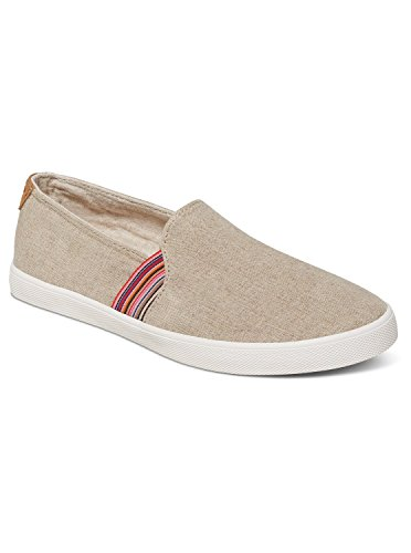 Roxy Women's Atlanta Slip on Shoe Fashion Sneaker, Natural, 9 M US