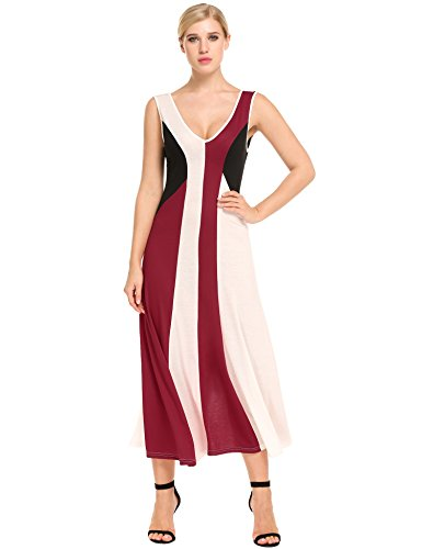 ANGVNS Womens Sleeveless Double Color