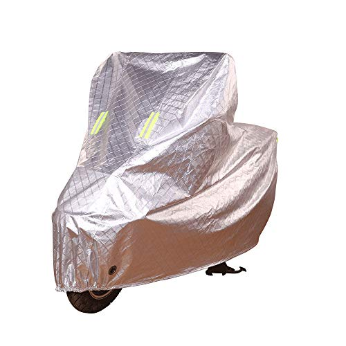 ZZKJTANGYMTT Motorcycle Covers for Outside Storage, Electric Pedals, Electric Bicycle Clothing, Sun Protection, Rainproof, Thickened Dust Cover,A