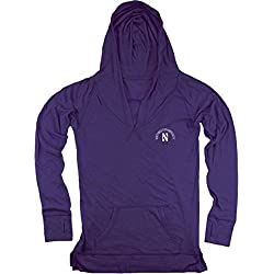 Northwestern Wildcats NCAA Women's Zen Long Sleeve Hooded Pullover - Purple , Womens Large