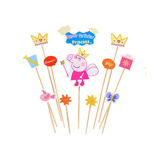 Magnificent Peppa Pig Birthday Cake Decor Baking Desserts Unicorn Horns Cake Funny Birthday Cards Online Overcheapnameinfo