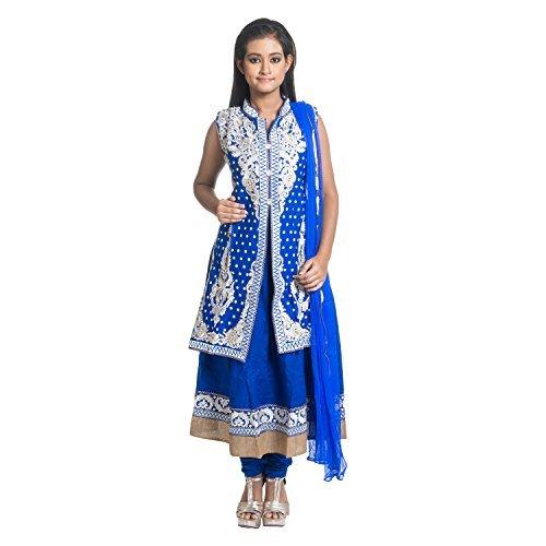 Cynthia S Fashion Cfk277 Royal Blue Bust 40 New Women S Indian