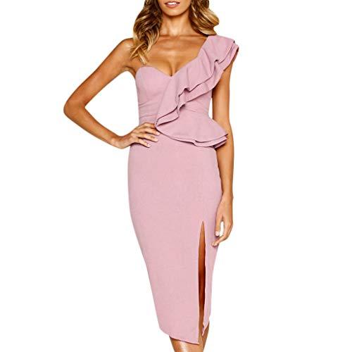 Caopixx Dress Party Dress,Caopixx Womens Sleeveless Holiday Beach Dress Ladies Summer Ruffle Maxi Cocktail Prom Dress