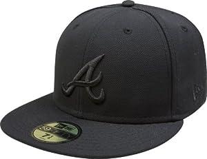 Amazon.com : New Era MLB Black on Black 59FIFTY Fitted Cap