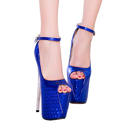 CM Pompes Toe 19 Nouvelles Plateforme De Peep Mariage Femmes Hauts Fereshte Fête Ciel Bleu Chaussures Stiletto Sandales Talons Printemps 549 S6qUxI
