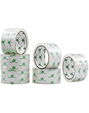 BOMEI PACK Packing Tape, Super Clear Shipping Tape, 1.88 Inch x 50m, 6 Rolls