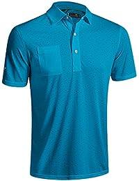2016 Mizuno Digital Jacquard Polo Shirt, Blue, XLarge