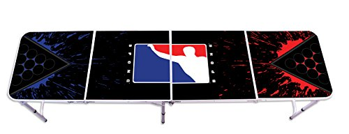 Official BPONG Beer Pong Table 8 feet Aluminum Splatter Edition - World Series of Beer Pong WSOBP by BPONG