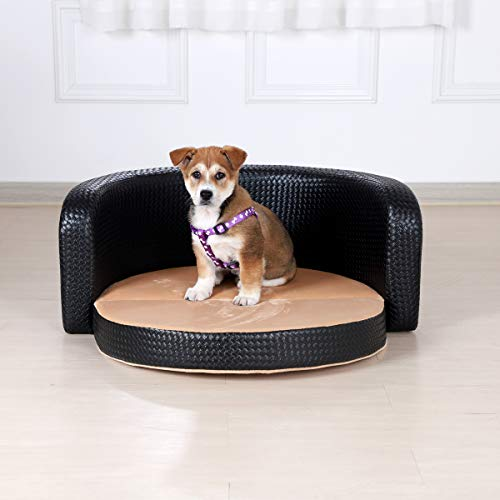 Multi-functional Pet Sofa Bed, Couch for Dog with Wooden Frame and Anti-friction Pvc Fabric for Medium Dog Using