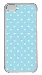 iPhone 5c Case Unique Cool iPhone 5c PC Transparent Cases Blue And White Speckles Design Your Own iPhone 5c Case