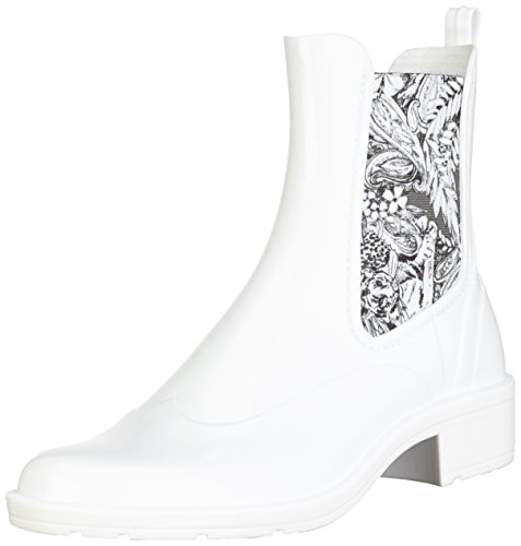 Gomma Stivali Ankle Desigual Di Bianco Pasley Boot Rain Donna wIYqIF