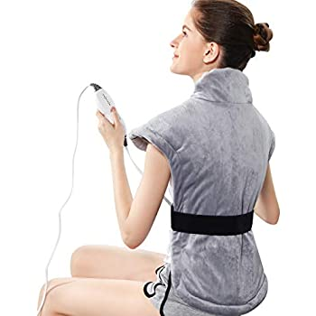 REVIX XXL Long Heating Pad for Full Back, Neck and Shoulders Pain Relief, 24 * 29