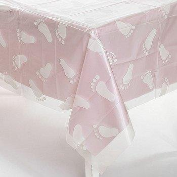 CLEAR BABY FOOT PRINT PLASTIC TABLECOVER
