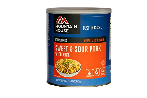 Mountain House Sweet & Sour Pork with Rice #10 Can (Mountain House Dehydrated Food)