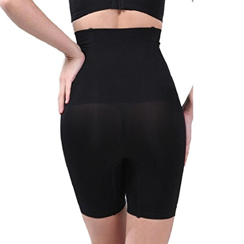 Boxer Side Skirts Kit Body (Fheaven Lady High Waist Trainer Tummy Control Thong Seamless Underwear Shaper Shapewear (L, Black))