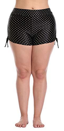 ize Swim Bottom Swim Shirt Solid Stretch Shorts Polka Dot 3X ()