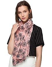 SEW ELEGANT NEW Ladies Women's Dandelion Taraxacum Print Cotton Scarf
