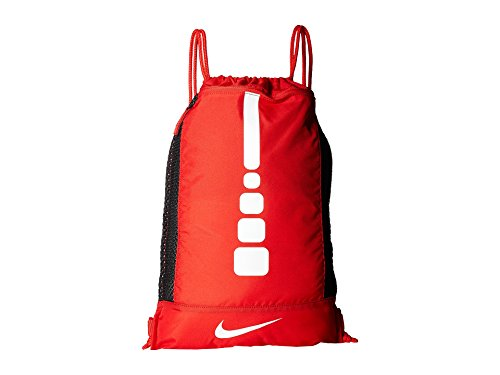 - Nike Men's Hoops Elite Basketball Gym Sack (University RED/University RED/White)
