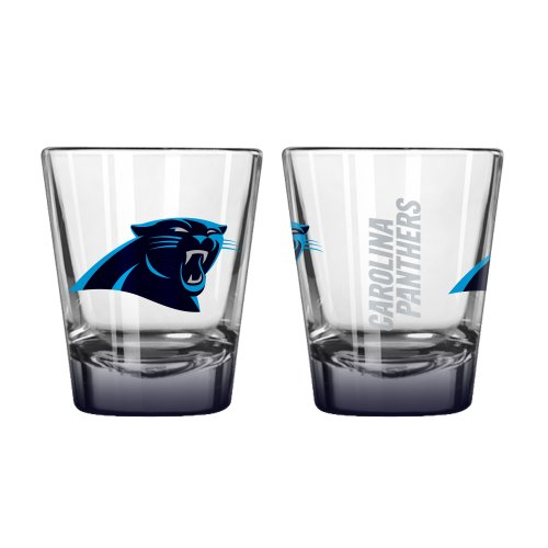 Boelter Brands NFL Carolina Panthers Elite Shot Glass, 2-Ounce, 2-Pack (Oz Shot Glass 2 Nfl)