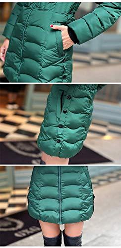Cappotto Laterali Giaccone Collo Pelliccia Fit Gr Piumini Con Invernali Di Con Manica Colori Transizione Di Lunga Con Moda Mantello Tasche Slim Di Costume Cerniera Solidi Donna Cappuccio 8Inq8vgwAY