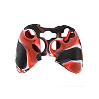 Yuntown Handle Case Cover Wireless Handle Protector Camouflage Sleeve for XBOX360 Color Red