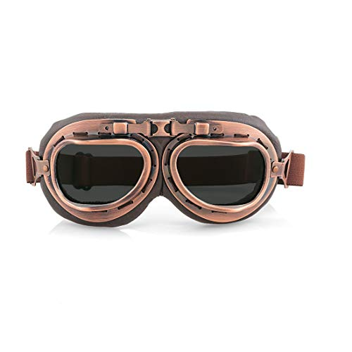 evomosa Motorradbrille Retro Windproof Dustproof Motorcycle Eyewear Protect Brille (B Color)
