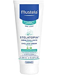 Mustela Stelatopia Emollient Cream, Baby Cream, for Eczema-Prone Skin, with Natural Avocado Perseose, Fragrance Free, 6.7 Ounce