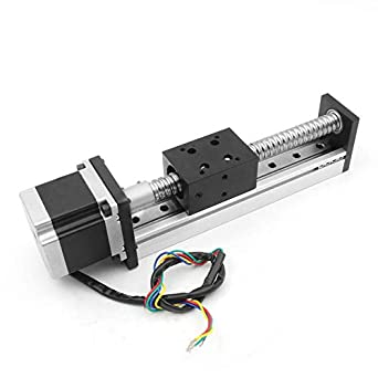 200mm Length Travel Linear Stage Actuator with Square Linear Rails +  CBX1605 Ball Screw 1605 Ballscrew Motorized XY XYZ Linear Stage Table with  NEMA23