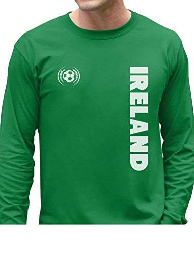 Tstars TeeStars - Ireland National Football Team Irish Soccer Fans Long Sleeve T-Shirt Small (Ireland Football)