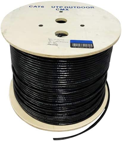 23AWG 550MHz 100/% Solid Bare Copper White /& Black Color UTP Cat6 Plenum Cat6 Outdoor Black Available in Blue CMP Unshielded Twisted Pair 1000ft Bulk Ethernet Cable