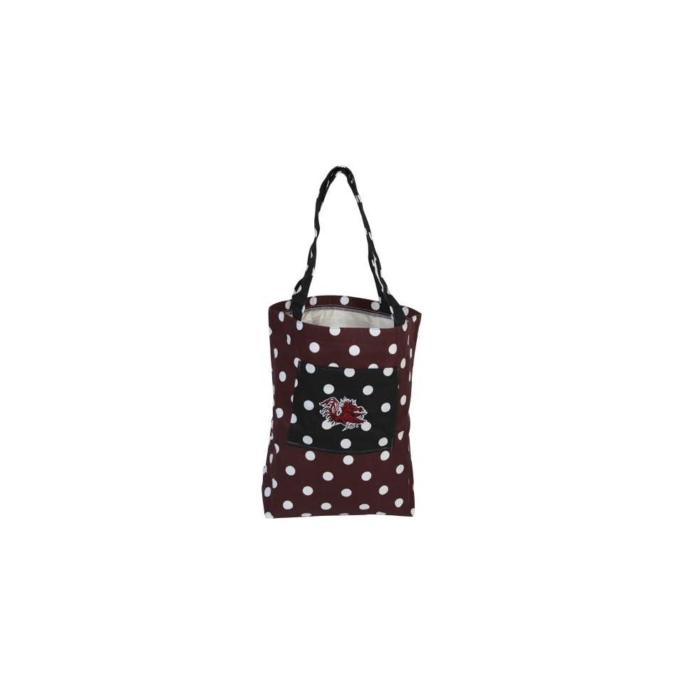 South Carolina Gamecocks Womens Polka Dot Small Canvas Tote Bag   Garnet