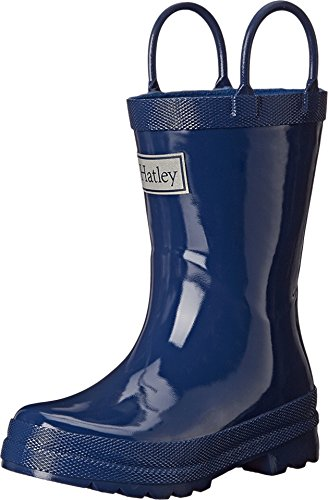 Hatley Kids Baby Boy's Solid Handled Rain Boot (Toddler/Little Kid) Navy 8 M US Toddler M ()