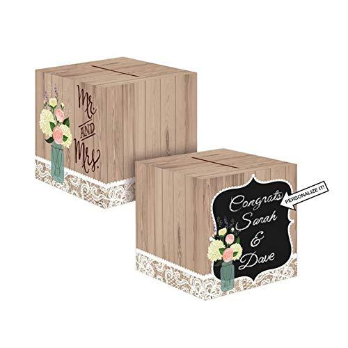 Creative Converting 088706 Card Holder Box, Rustic Wedding (2-Pack)