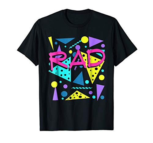 Rad 1980s Vintage Eighties Costume Party t-shirt ()