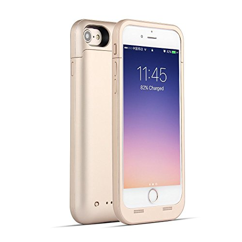 iPhone 8 7 6S 6 Battery case, 4500mAh Ultra thin External Protective Portable Charging Case Cover for iPhone 7 Battery power Charger(4.7