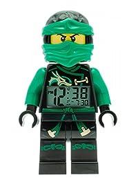 LEGO Kids 'Ninjago Sky Pirates' Quartz Green Alarm Clock Watch