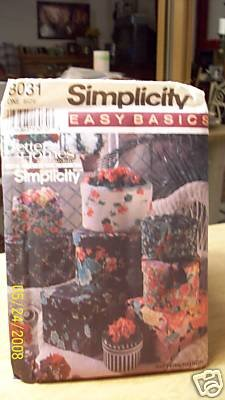 1992 Simplicity Home Decor Sewing Pattern 8031. Fabric Covered Storage Boxes. Easy, Basic BH&G Design -