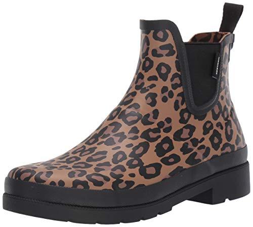 Tretorn Women's LINA2 Rain Boot, Brown Leopard, 10 Medium US