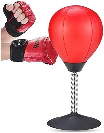 デスクトップベントスピードボール、オフィスボーリング圧力逃がしサクションカップボクシングパンチングバッグ、6.9X 14.2インチ