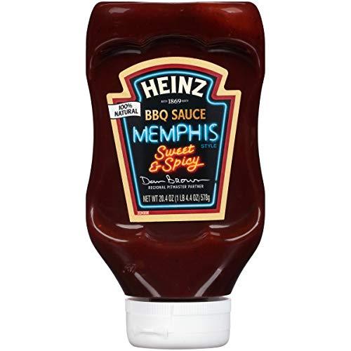 Heinz Memphis Style Sweet & Spicy BBQ Sauce, 20.4 oz Bottle